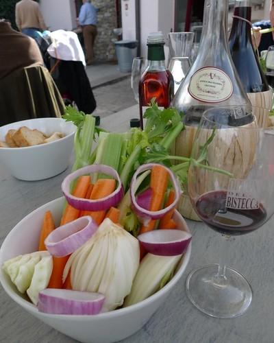 Pinzimonio di verdure dell'orto