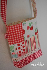 Shoulder bag - pink patchwork (coco stitch) Tags: pink girl toddler etsy patchwork pochette shoulderbag japanesefabric cocostitch