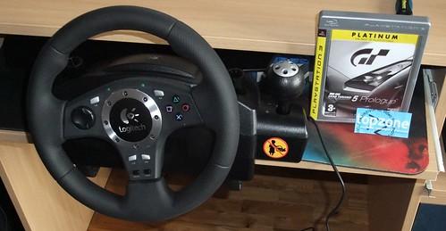 Logitech Driving Force Pro PS3 ir PC žaidimų vairas