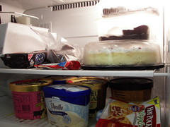 man, someone needs to clean out the fridge (or our church has a sweettooth!) (19melissa68) Tags: food freezer chipsahoy freezerburn frozenfoods hotpockets vanillaicecream bluebellicecream mosaicfortworth mfw031014