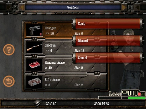 Resident Evil 4 iPad weapons