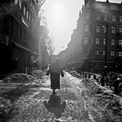 The walking lady (Sina Farhat) Tags: winter light mars sun ice sol water lady composition analog photoshop mediumformat wonderful gteborg march is vinter friend sweden box guess path dam background details gothenburg shapes large sunny frame scanned photowalk 16 sverige former psd russian simple vatten tricky komposition detailed negativ lubitel166universal dpi 031 cs4 ljus stor detaljer lda adobecameraraw underbar 2400 estimate vn simpel nolightmeter gng bakgrund gissa rysk klurigt fotopromenad inskannad mellanformt ingenljusmtning uppskatta usedmycanon30dasalightmeter anvndemincanon30dsomljusmtare detaljerad fomapan100120bw