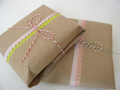 Packaging with Japanese Masking Tape