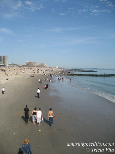Coney Island Beach on Easter Sunday. Photo © Tricia Vita/me-myself-i via flickr
