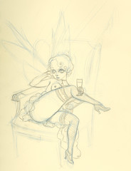 Absinthe Fairy Sketch