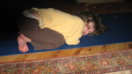 sleeping yoga girl