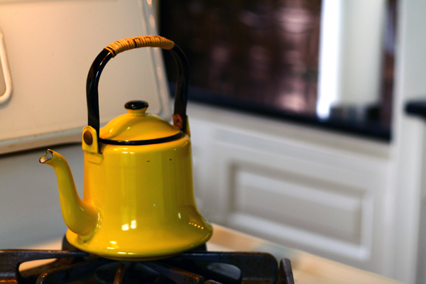 Yellow Enamel Teapot