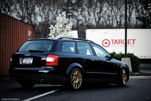 A4 avant on gold BBS CH wheels
