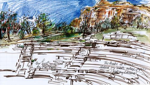 Turkey, theatre at Pirene