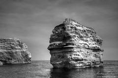 Ladram Bay IR (Martin_Finlayson) Tags: sea blackandwhite bw water monochrome ir nikon rocks d70 gimp devon infrared tamron hdr jurassiccoast photomatix ladrambay 720nm 1024mm