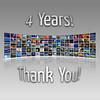 4 Years! (Carlos Gotay Martínez) Tags: thanks reflections flickr thankyou photos anniversary 4 flickrversary photowall 4years
