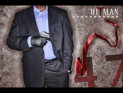 8/365 Y2 - HITMAN UNDERGROUND (Arieseffects) Tags: year2 365 redtie hitman creativelighting staytuned theghost agent47 8365 alienbeesabr800ringflash marcellegrizzelle blaclleathergloves 45mmpistol thereturnofagent47 ittook200shotsofthrowingthetieinordertogetthefinalshot watchthesetupvideo slickhandsome