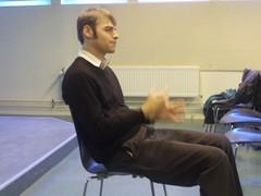 Adrian Holovaty gav gode råd til en gruppe danske journalister på et seminar i København d. 14.4.2010.