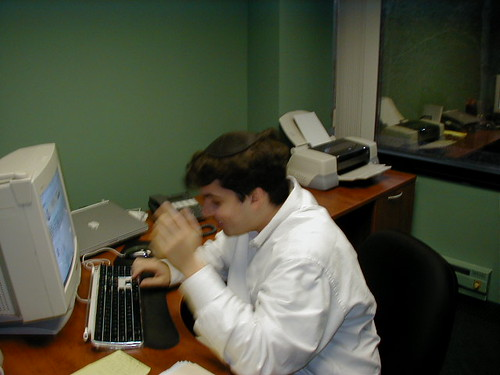 Barry in 2002 at His Desk at RustyBrick Office