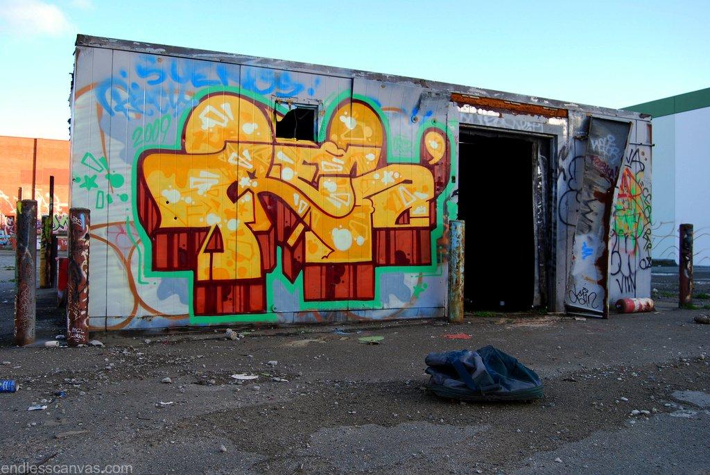 FRES Graffiti Piece Oakland California.