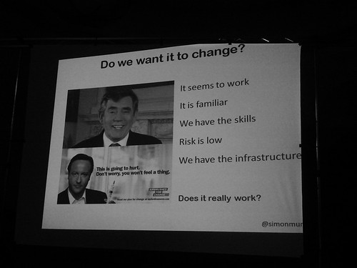 Simon Monro's slide deck - Do we want it to change?