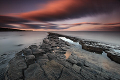 Sugar Sands, Howick (Alistair Bennett) Tags: longexposure sunset seascape evening coast rocks northumberland howick sugarsands canonefs1022 nd110 nd30 scuddingclouds gnd09he gnd06se ironscars