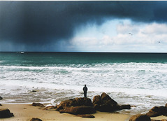 (Some Dumb Kid) Tags: sea sky storm beach rain cornwall sennen