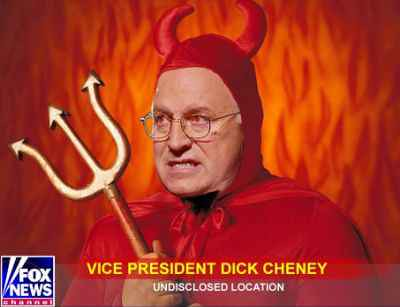 Satire: Dick Cheney as devil