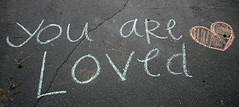 chalk you are loved