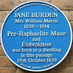 Photo of Jane Burden blue plaque