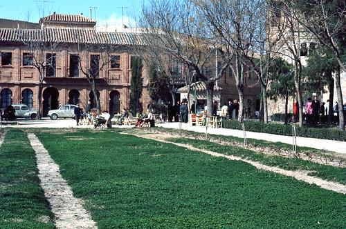 Paseo del Tránsito de Toledo en 1967. Fotografía de John Fyfe