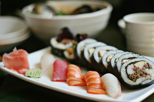 Korean sushi & nigiri