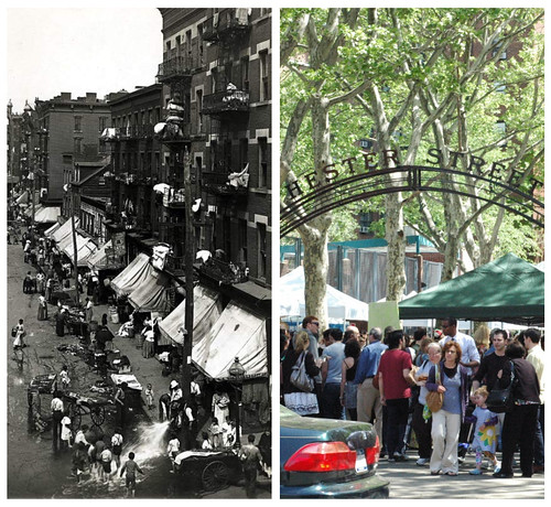 Hester Street 1901 and now