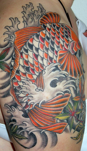 koi carp sleeve tattoos