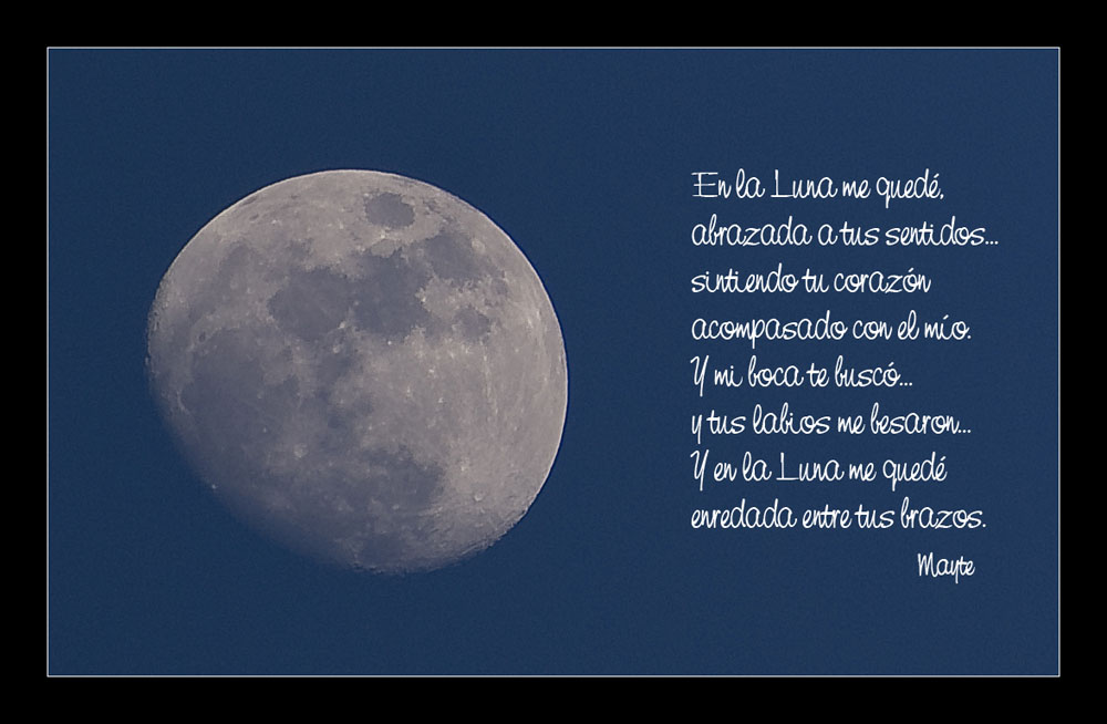 en la luna me quedé