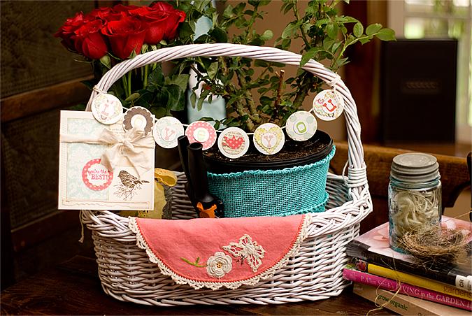 mother's day rose basket for blog