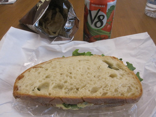 Egg sandwich, chips, V8 from Cartet - $8.90