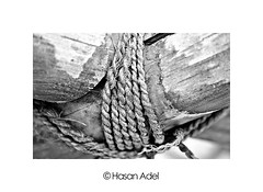 Strength of Joints B&W (HASAN_ADEL) Tags: old bw white black canon traditional rope saudi arabia l strength 450 joints ksa 24105      450d
