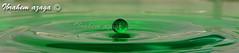 Alone (Azaga ツ) Tags: life test house macro green water canon photography drops alone close sigma abraham drop workshop libya blaster 105mm ابراهيم تصوير ماء منزل sabha قطرة ليبيا اخضر ورشة قطرات eos50d ماكرو سجما مقرب حياة وحيدة تجارب سبها مكبر عزاقة aezagp
