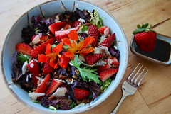 farmers market salad (sevenworlds16) Tags: flowers mountain cheese salad spring view farmers market strawberries dressing produce balsamic edible inthespring andsummer foodis ilovehowcolorful