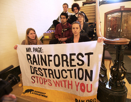 Activists Occupy Cargill HQ, Shutting Down Business for Cutting Down Rainforest