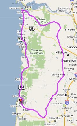 Oregon Coast 600 (approximately)