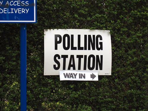 Polling station (way in)