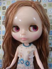 Like TG...Side facing pink (Scrappie12) Tags: girl doll factory dress blythe squeakymonkey miakoda
