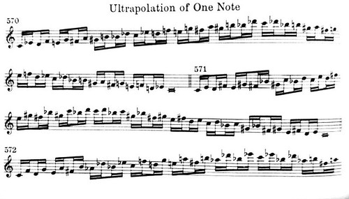 Slonimsky Whole-Tone Progression Ultrapolation