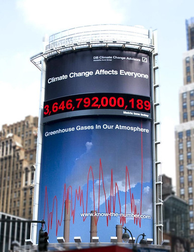 Deutsche Asset Management's Carbon Counter in New York City