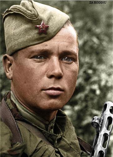 Guard Sergeant AM Filippov.  Belgorod .  August 2, 1943