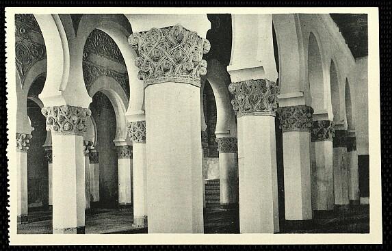 Sinagoga de Santa María la Blanca a comienzos del siglo XX. Foto Hauser y Menet