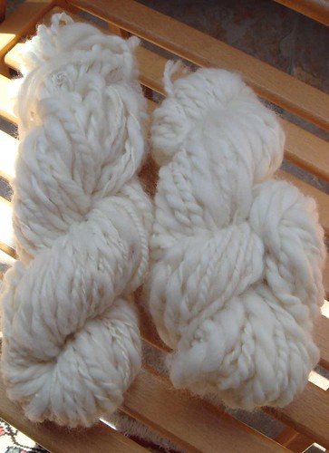 my first handspun yarn