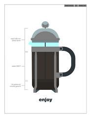 Hustle Juice (brianwjones) Tags: coffee magazine design frenchpress helvetica presspot illustation 48hourmag