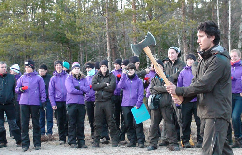 No pressure... Throwing a double edged Gränsfors bruks axe