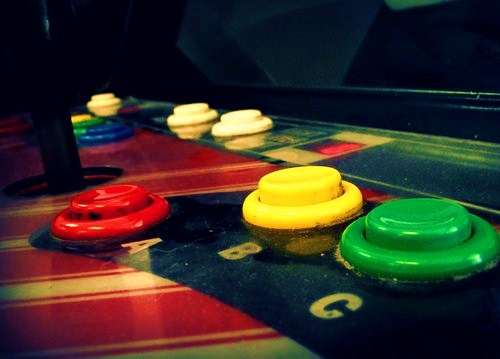 Old arcade games,