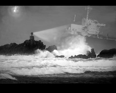 All Hands Saved (Catching Magic) Tags: bw storm nikon rocks digitalart ps shipwreck tiraudan drama