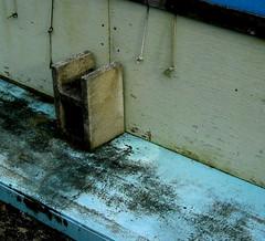 Cinderblock Blue Deck Wood Tarp (cdsessums) Tags: wood blue venice florida deck cinderblock tarp