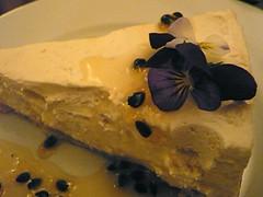 Flowery cheesecake